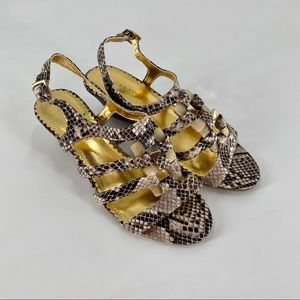 LAURA ASHLEY Snakeprint Heeled Sandal Shoe Sz 6